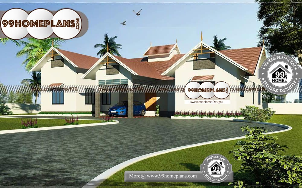 Small One Story House Plans with Garage - One Story 2150 sqft-Home