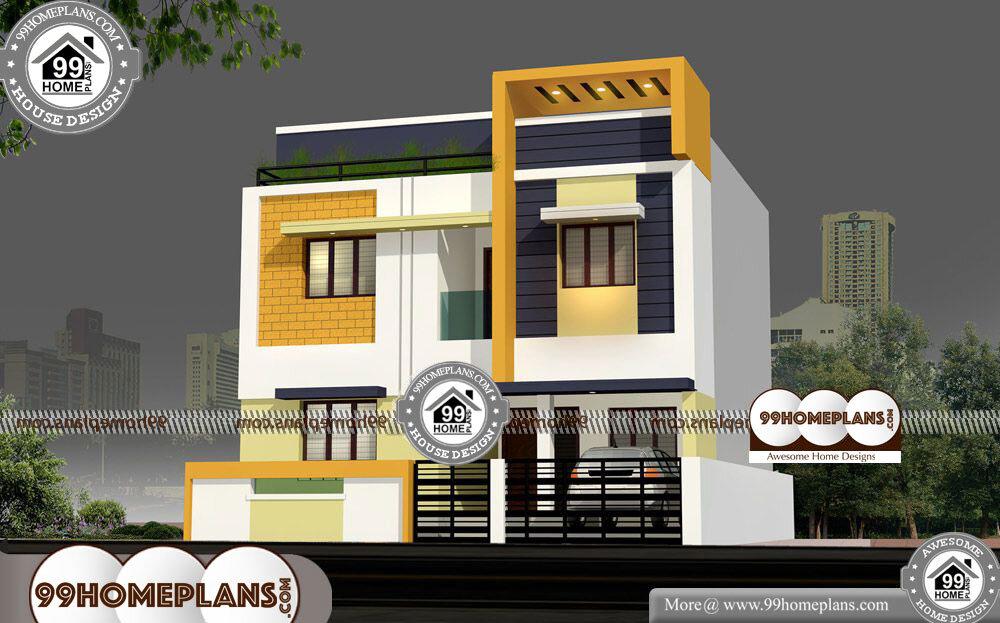 Tall Narrow House Plans - 2 Story 1600 sqft-Home