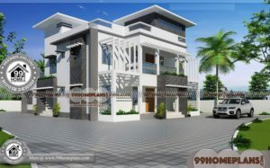 Architecture Design of Indian Houses 60+ Plans For Double Storey Houses