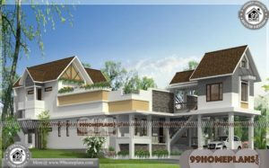 Best Home Designs in Kerala Style 70+ 2 Story House With Balcony Plans
