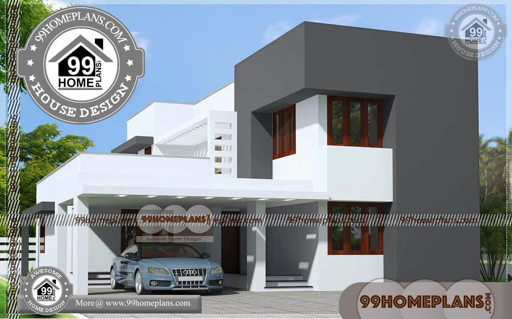 Best House Plans for Narrow Lots   80+ Contemporary Design Homes