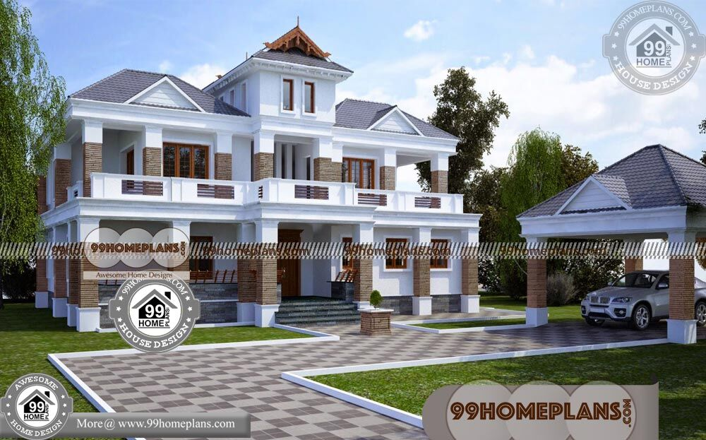 Best Two Story House Plans 60+ Traditional Home Elevations Collections