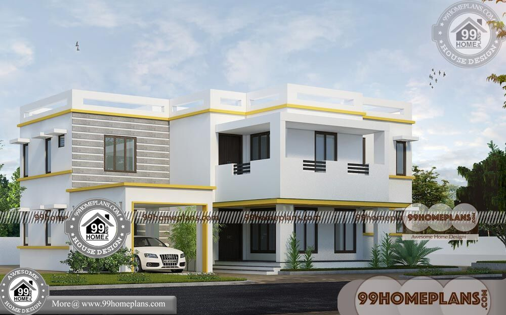 Bungalow House Plans with 4 Bedrooms | 90+ Small Two Story Homes