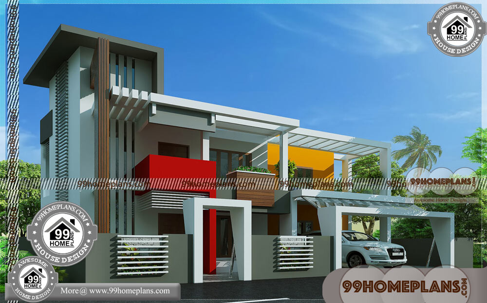 Contemporary House Models & Two Storey Modern House Design Plans