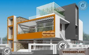 Contemporary Model House Plans 55+ Double Storey House Elevation