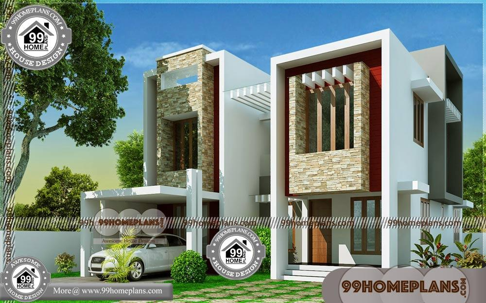 Contemporary Modern House   250+ Small Lot House Plans Two Story