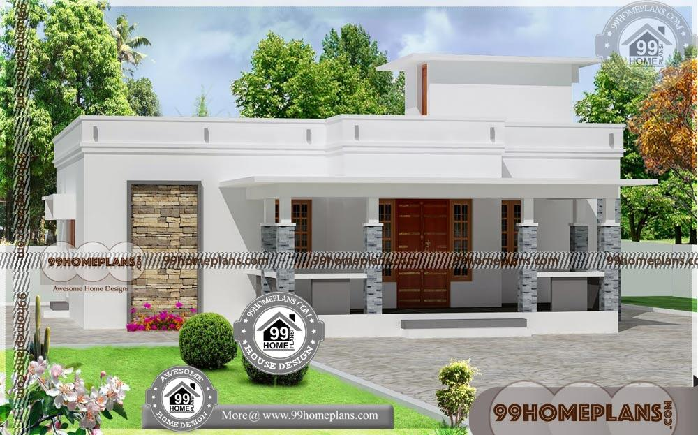 Contemporary Single Story Home Designs | Low Cost House Design Plans