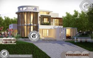 Contemporary Style Home Plans 60+ Two Storied House Plans Online