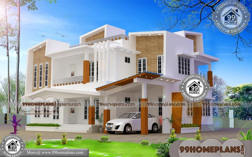 Contemporary Two Storey House Designs | 50+ Low Budget House Plans