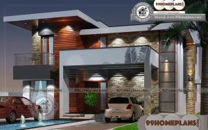 Contemporary Two Story House Plans 60+ Simple Low Cost House Plans