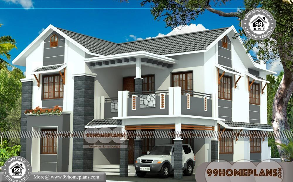 Design Of Indian House 70 2 Storey House Designs With Balcony Plans