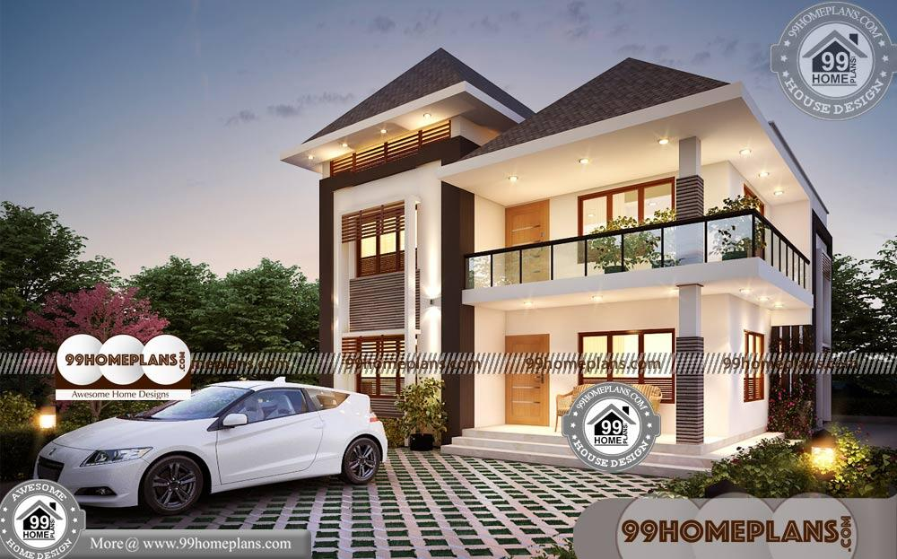 Design of Simple Indian Houses | 90+ Modern Two Story Homes Collection