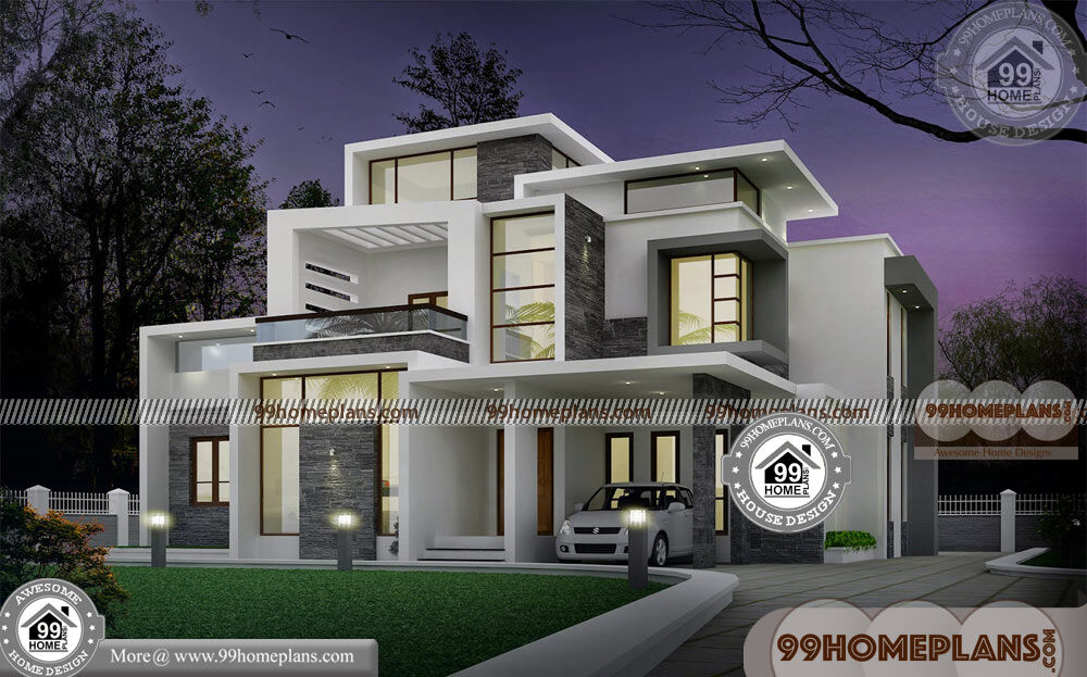 Design Of Small House Plans | 40+ Latest Two Storey House Design Plans