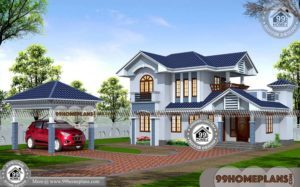 Double Floor House Elevation Photos | 100+ Beautiful Kerala House Plans