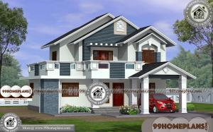 Double Floor House Plans | 50+ Latest House Plan Design Kerala Style