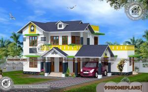 Double Story Modern House Designs | 50+ Kerala Veedu Design Plans