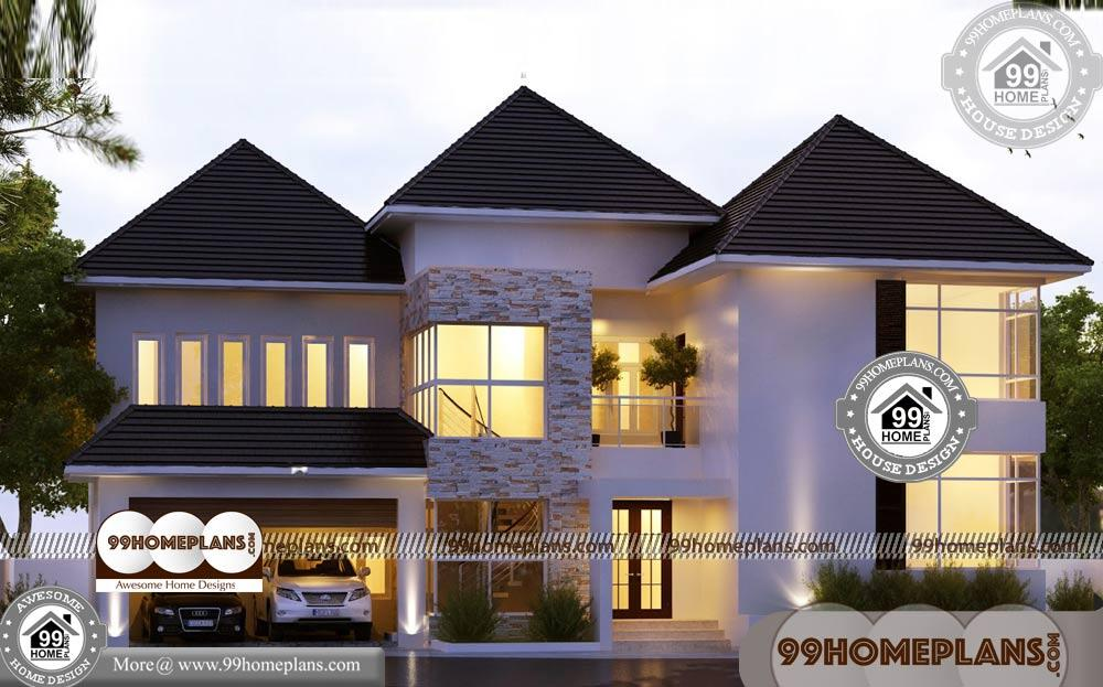 Efficient Small House Plans & 90+ Two Story Homes Designs Collections