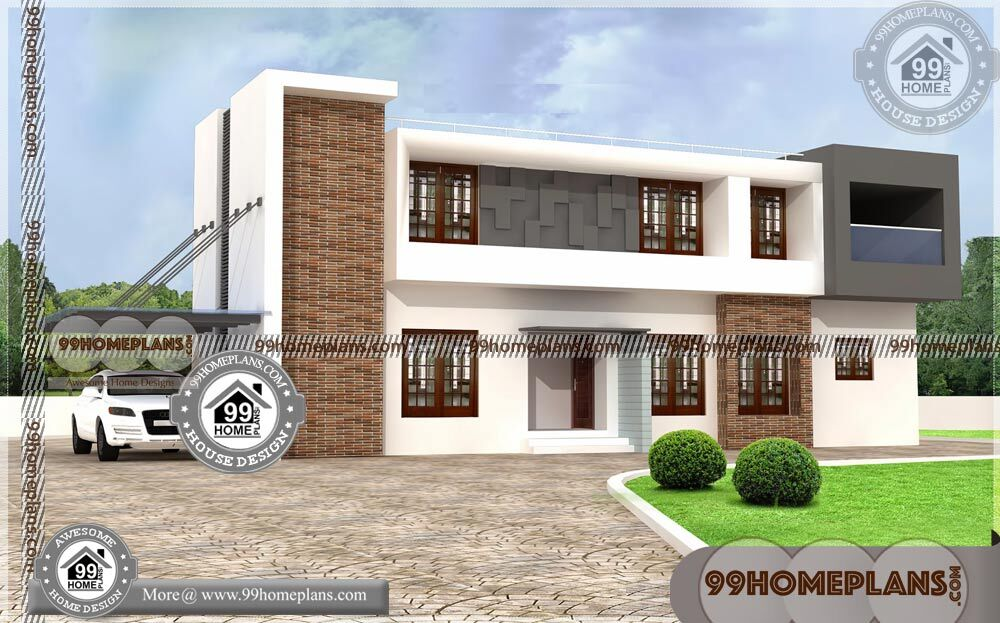 Four Bedroom Home Plans | 500+ Modern Modern Two Storey House Plan