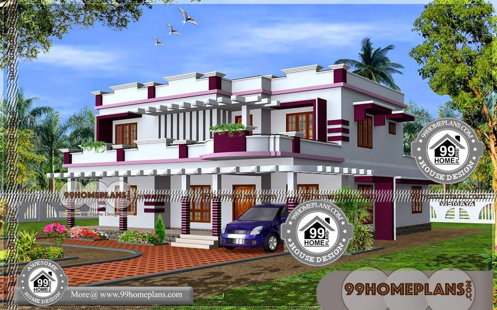 Good Home Designs in Kerala 70+ Modern Double Story Houses Online