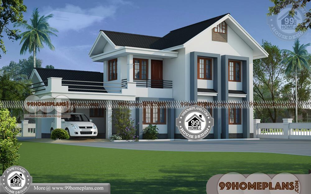 Home Plans Kerala Style 80+ Beautiful Double Storey Houses Collections