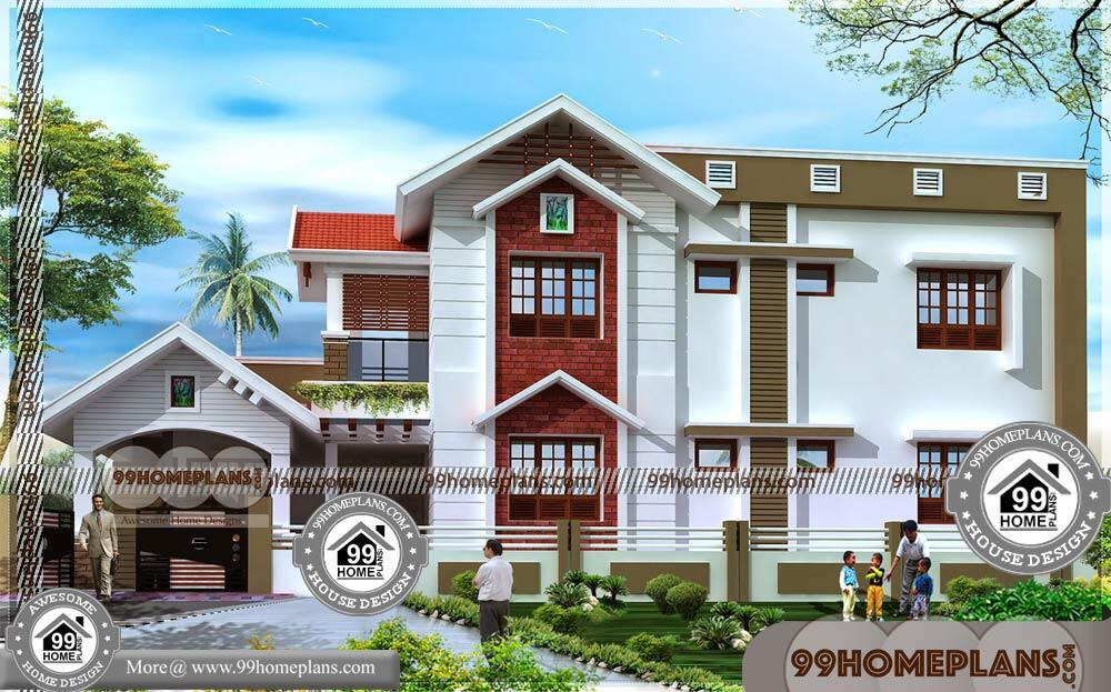 Home Plans Two Story Homes   70+ Traditional Modern Homes Designs