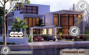 House Plan 2 Storey Contemporary Style Home Plans In Kerala Collection