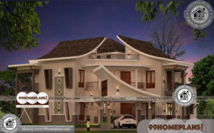House Plan Designs with Photos | 90+ Narrow Double Story House Plans