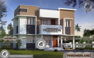 House Plan in Kerala Style with Photos 70+ 2 Storey Townhouse Plans