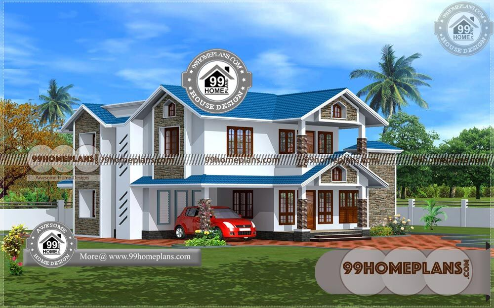 House Plans For Kerala Style 90+ Best Two Story House Plans Collections