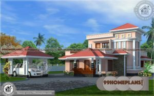 House Plans with Front Garage | 60+ New Double Storey House Designs