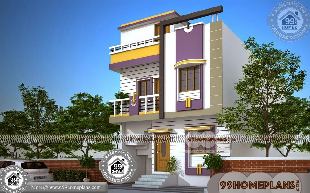 Houses For Narrow Blocks 60+ Double Storey Homes Plans Collections
