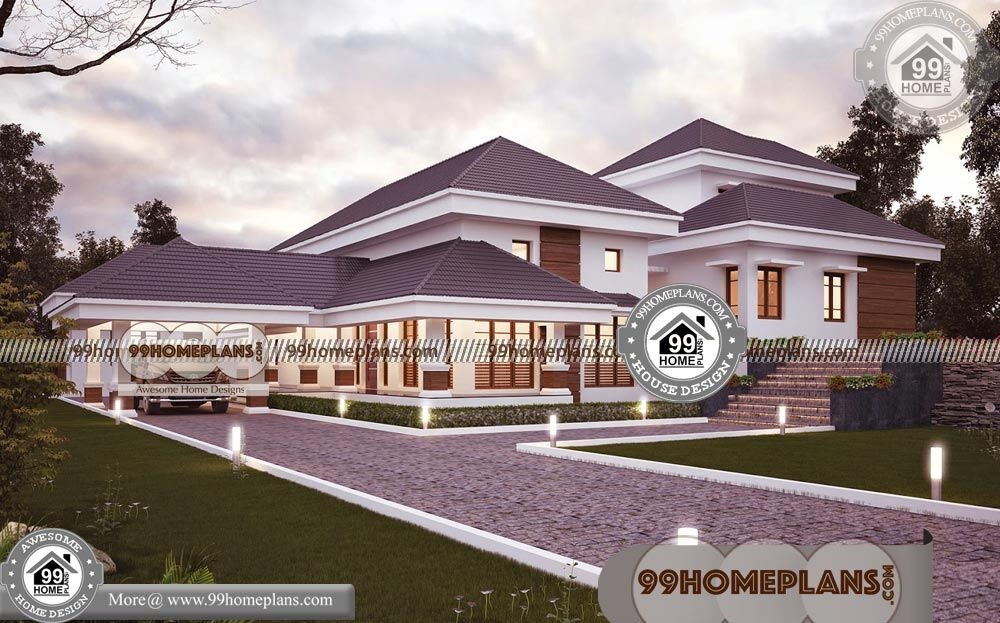 Indian Simple Home Front Design & 100+ 2 Story Small House Plans
