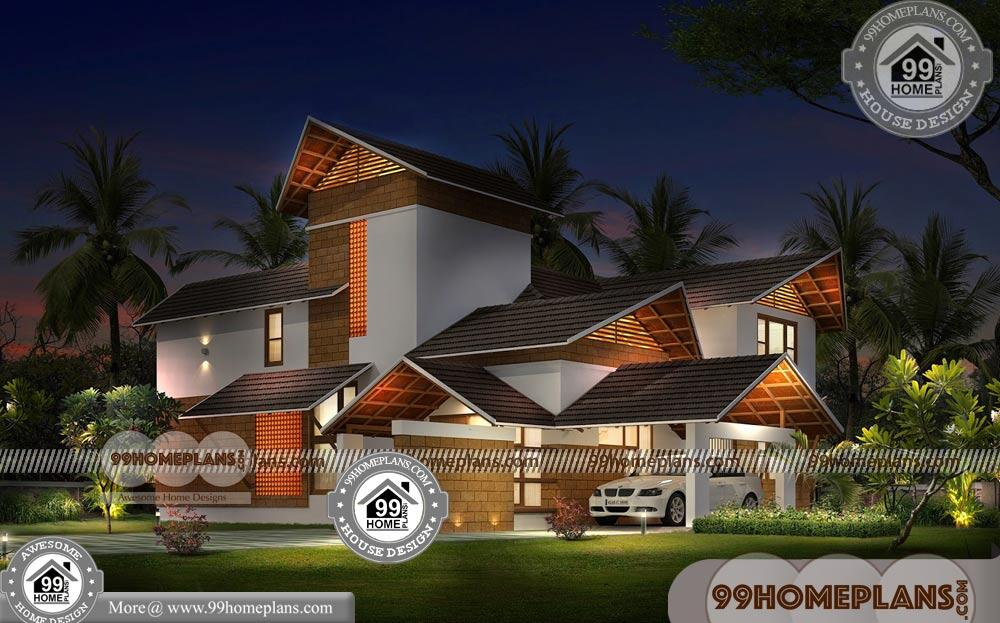 Kerala House with Nadumuttam   90+ Double Storey House Plans Online