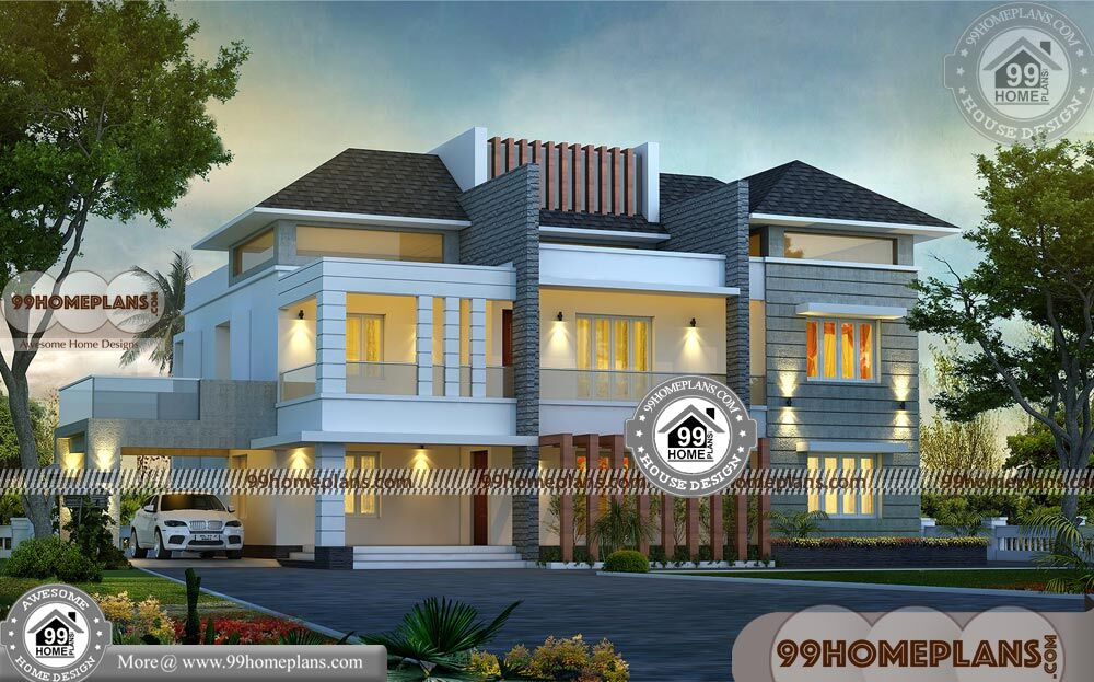Kerala Model House Photos 59+ Two Story Floor Plans Modern Collections