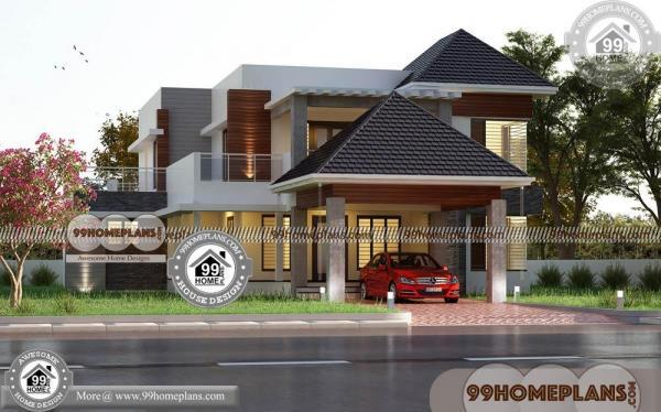 Kerala Small House Plans with Photos   60+ Double Storey House Plans