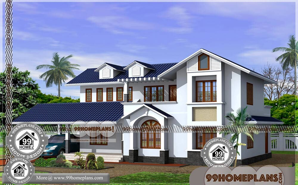 Kerala Style Home Models 70+ Double Floor House Elevation Photos Free