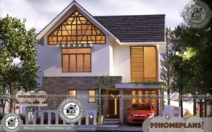 Kerala Style House Design & 90+ Small Double Story House Plans Online