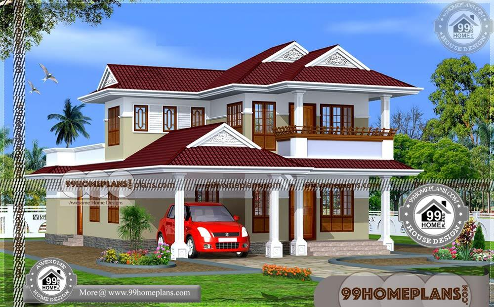 Kerala Style House Floor Plans | 90+ New 2 Story House Plans Online