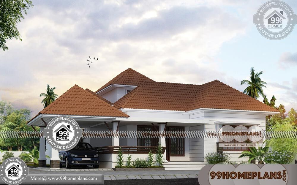 Large One Story House Plans | 90+Traditional House Plans With Pictures