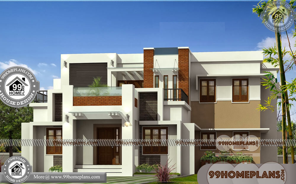 Latest House Architecture Design & 90+ 2 Story House Plans Indian Style