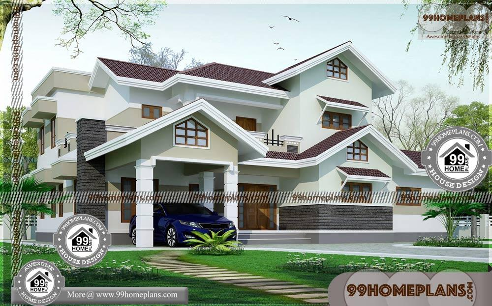 Modern Home House Plans | 90+ Beautiful Double Storey Houses Online