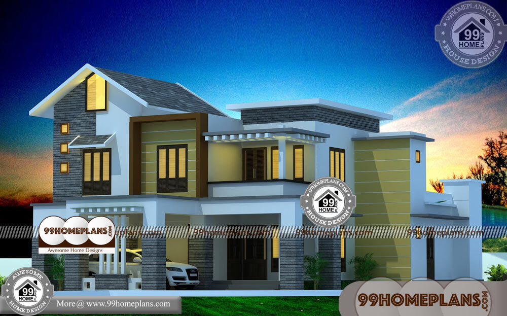 Modern Narrow Homes & 60+ 2 Storey House With Floor Plan Collections