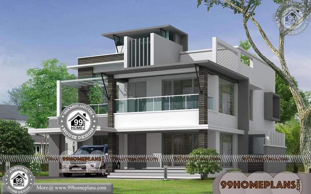 Modern Simple House 50+ 2 Story House With Balcony Latest ...