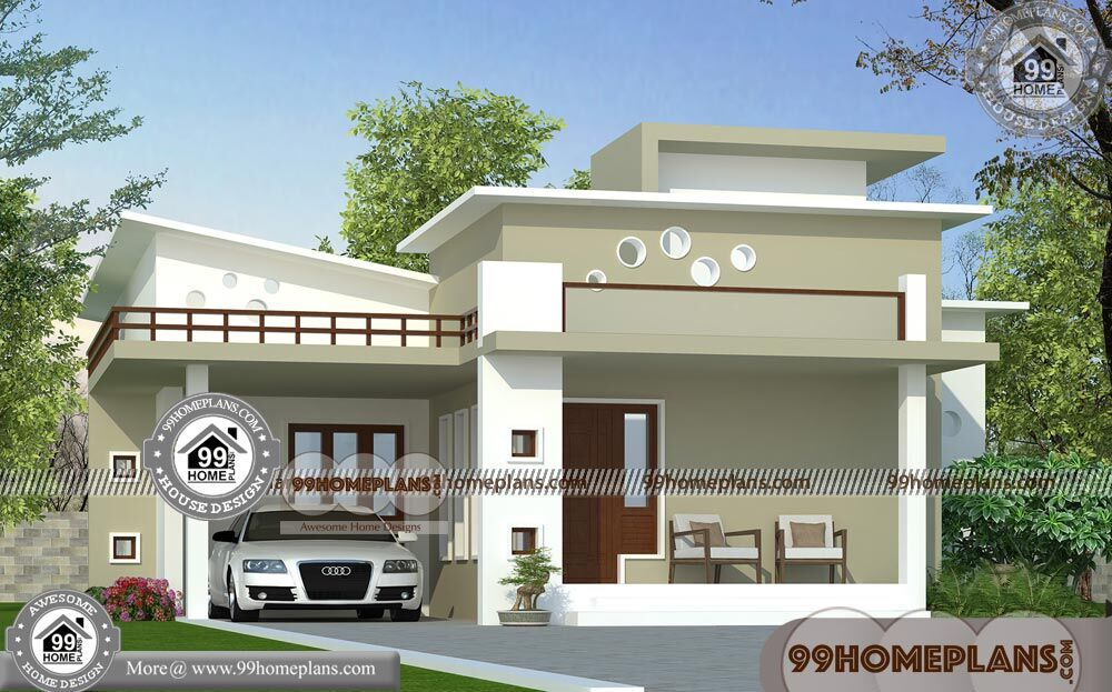 Modern Single Floor House Designs 90+ Free Kerala Style