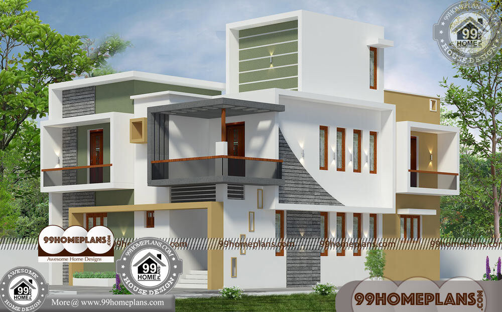 Narrow 2 Story House Plans 90+ Contemporary Style Home Design Plans
