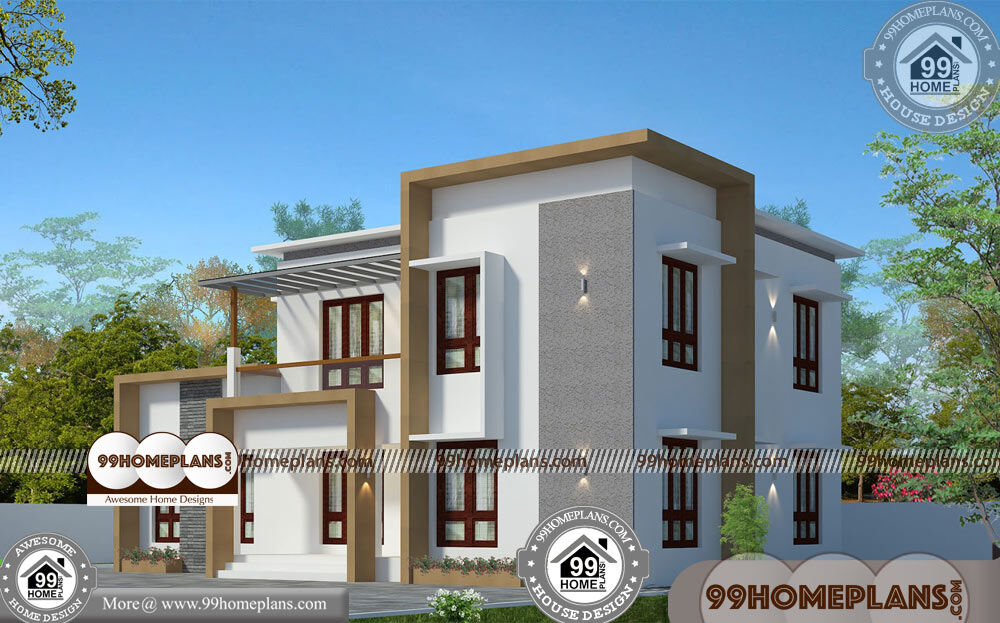Narrow Lot 2 Story House Plans 70+ Contemporary Style House In Kerala