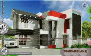 Narrow Lot Contemporary House Plans | 60+ Large 2 Story House Plans