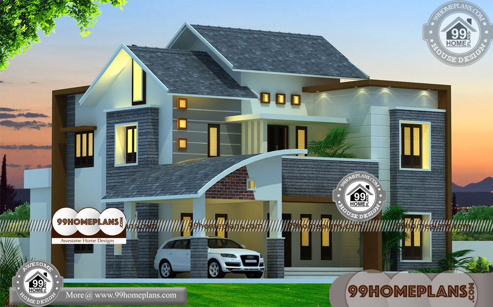 Narrow Modern Homes & 80+ Double Storey Plans With Balcony Online
