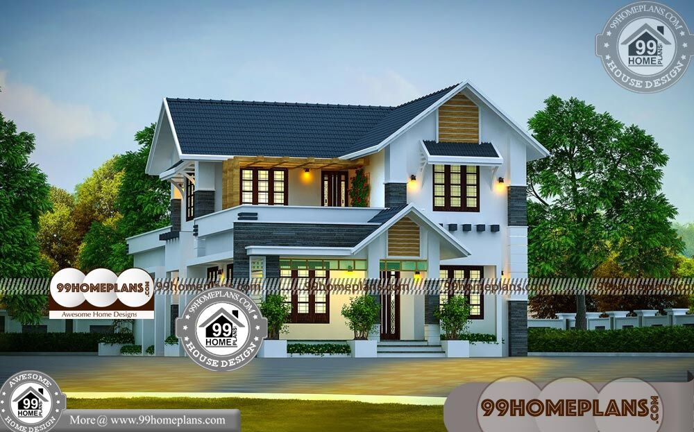 Narrow Modern House Plans 80+ Small 2 Storey Homes Plans Collections