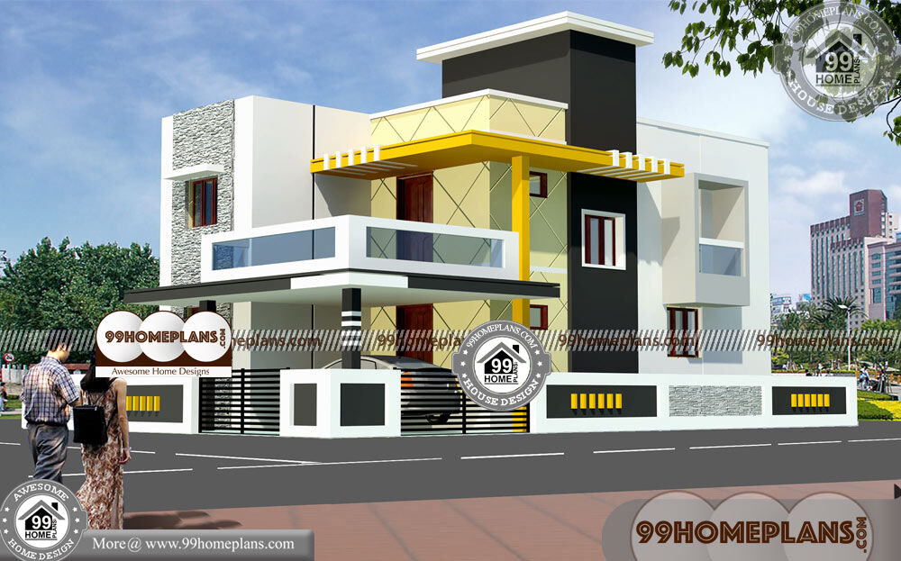 Narrow Sloped Lot House Plans | 50+ Double Storey Designs Collections